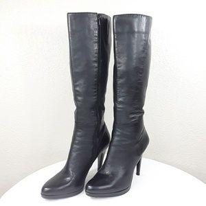 😎 Nine West Black Leather Boots